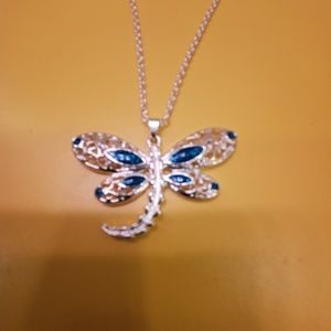 Jewelry - NEW Beautiful sterling silver dragonfly necklace